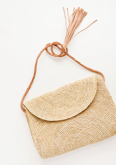 Leah Straw Shoulder Bag