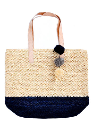 Montauk Colorblock Straw Tote