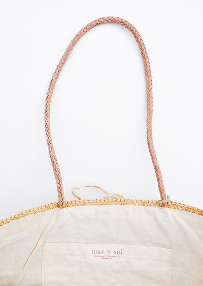 Rio Striped Straw Tote