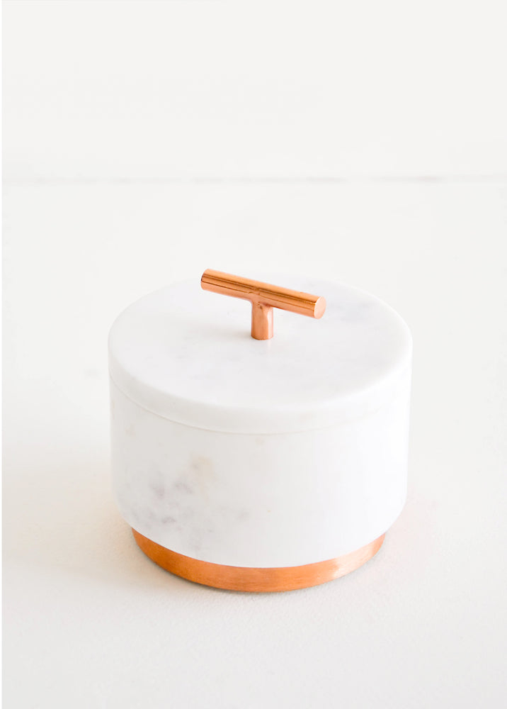 1: Marble & Copper Salt Cellar in  - LEIF