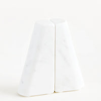 2: Tapered White Marble Bookends in  - LEIF