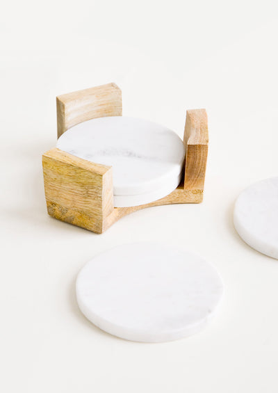 Marble Coaster Set with Stand hover