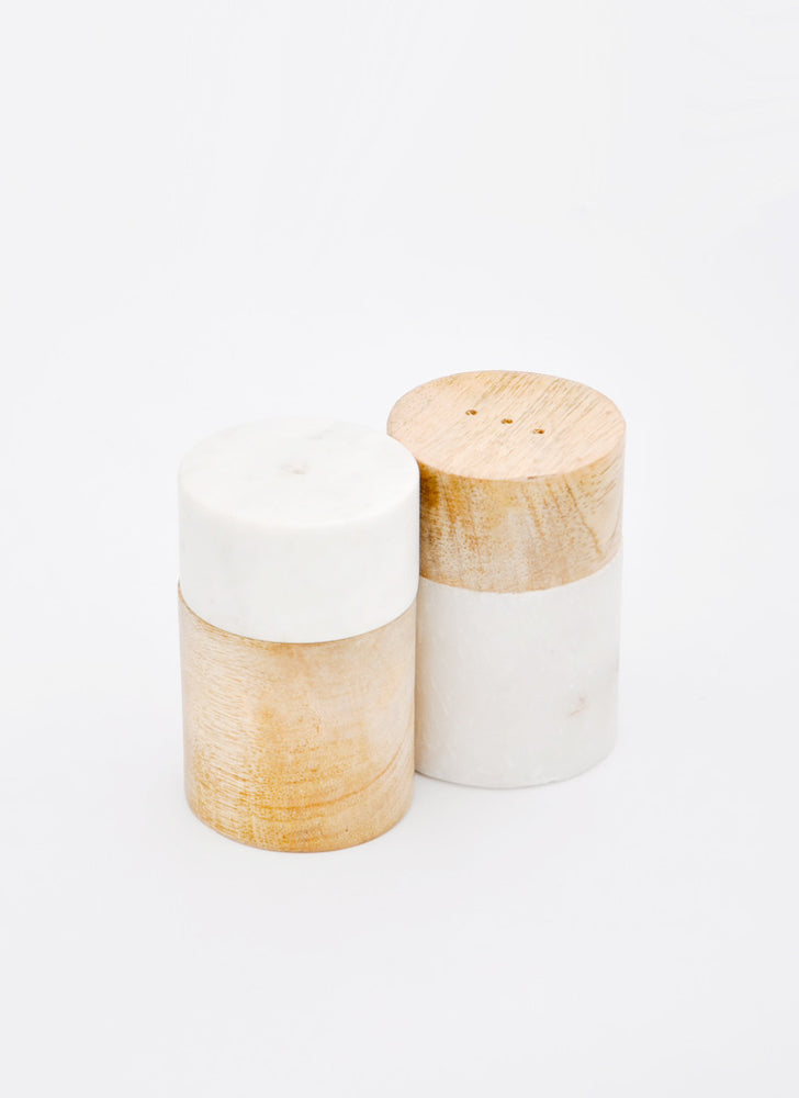 2: Marble Mix Salt & Pepper Shakers in  - LEIF