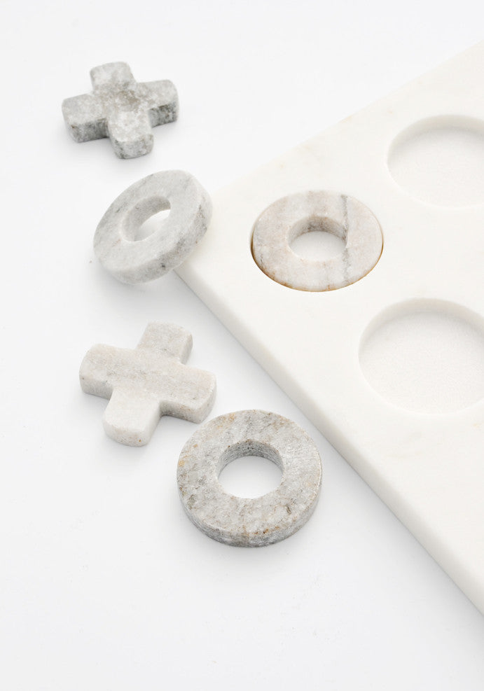 2: Marble Tic-Tac-Toe Set in  - LEIF