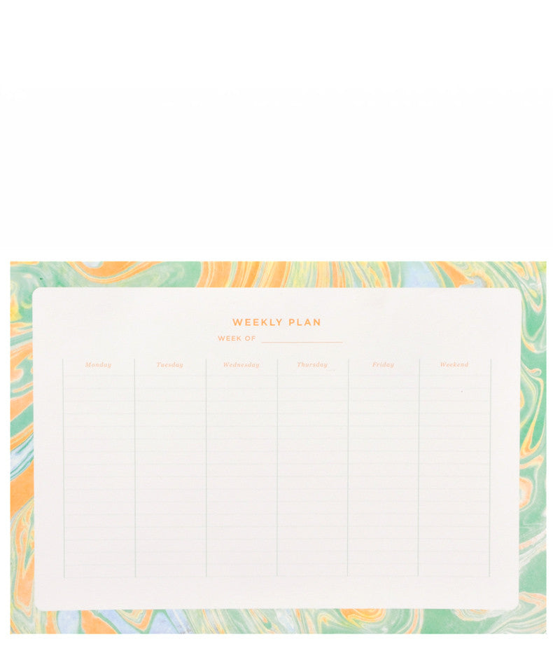 Marbled Weekly Desk Planner