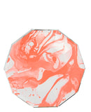 Marbled Paper Plates - LEIF