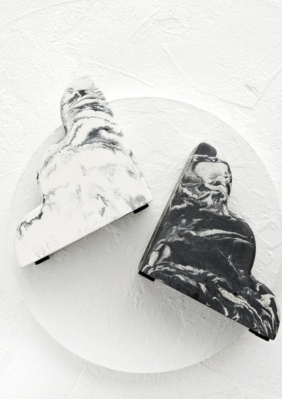 Marbled Cloud Bookends