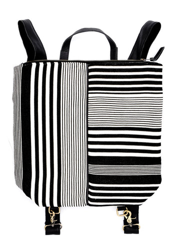 Margeaux Striped Canvas Backpack