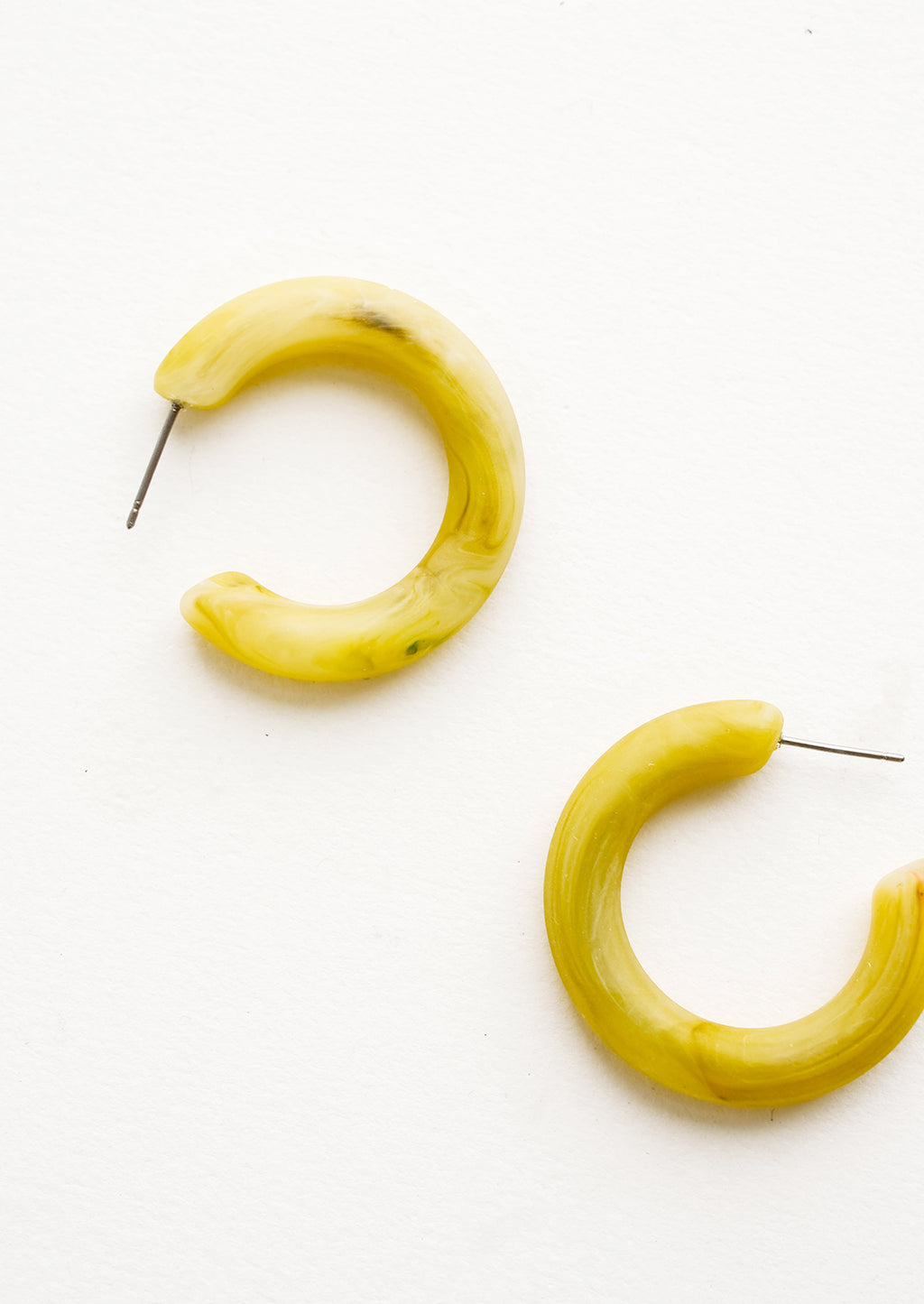 Split Pea: Matte Resin Hoop Earrings