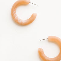 Peach: Matte Resin Hoop Earrings