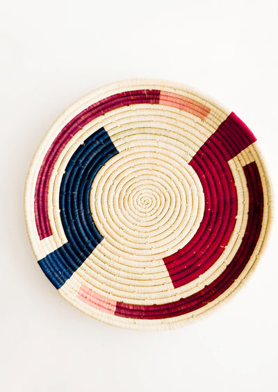 Maze Raffia Serving Tray