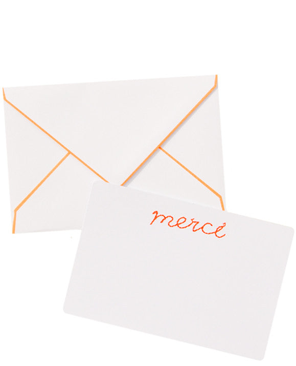 Merci Stitched Notecard Set - LEIF