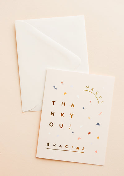 Merci Gracias Thank You Card