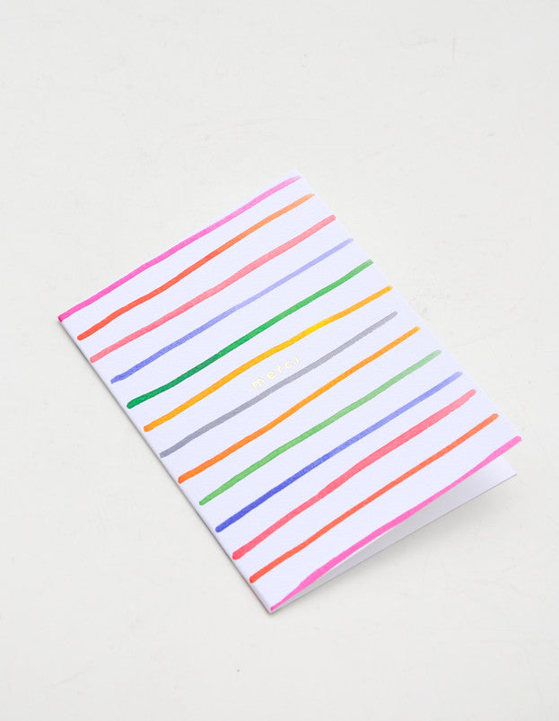 Merci Stripes Card Set - LEIF
