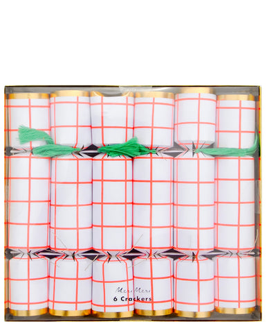 Holiday Grid Party Cracker Set