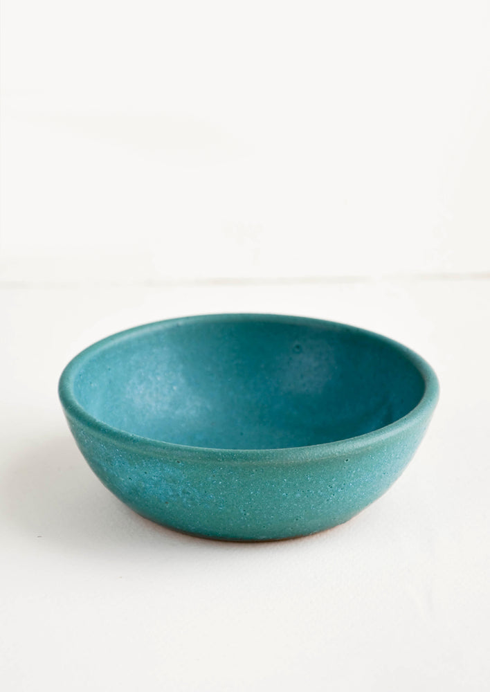 Pinch Bowl / Rustic Turquoise:  Small, handmade ceramic pinch bowl in rustic turquoise glaze
