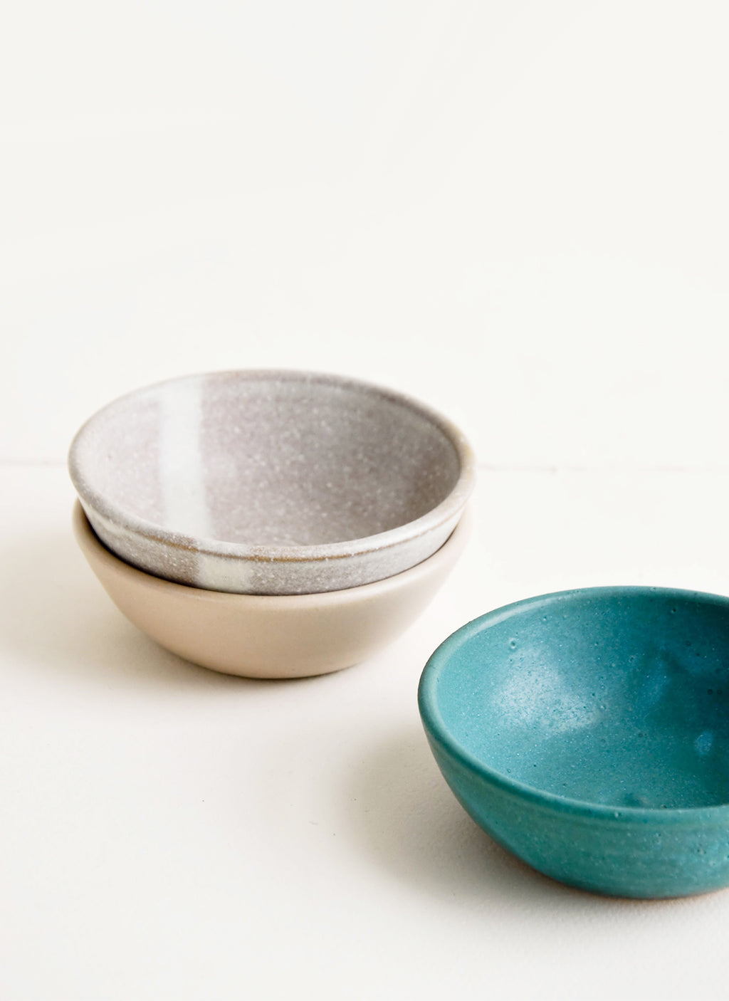 Pinch Bowl / Sand: Handmade ceramic pinch bowls in a mix of colors