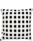 "Metallic Gingham Pillow, 24"" - LEIF"
