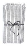 Metallic Stripe Linen Napkin Set - LEIF