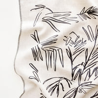 1: Screen Printed Palm Leaf Linen Tea Towel - LEIF