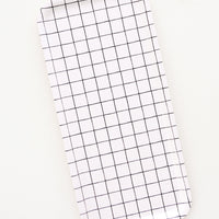 Windowpane: Rectangular tray with black and white grid pattern.