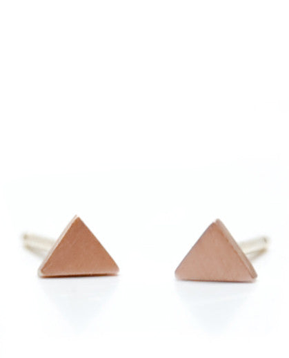 Mini Geometry Triangle Studs