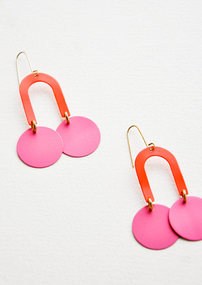 Mini Scooby Earrings in Coral / Pink - LEIF