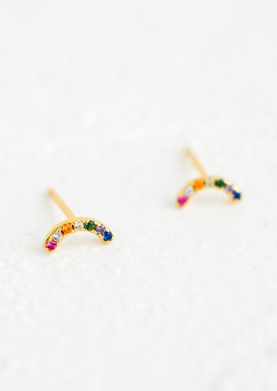 Tiny Rainbow Stud Earrings