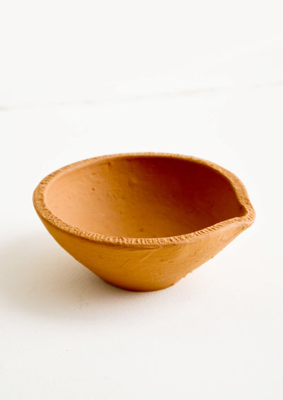 Tiny Spouted Terracotta Bowl