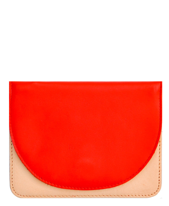Natural / Cherry: Lunette Half Moon Wallet - LEIF