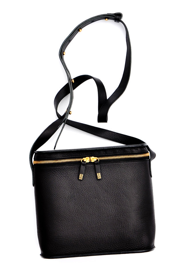 Black: Radio Crossbody Bag in Black - LEIF