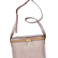 Pebble Silver: Radio Crossbody Bag in Pebble Silver - LEIF