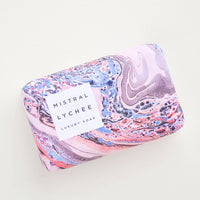 Lychee Rose: Swirling Waters Bar Soap in Lychee Rose - LEIF