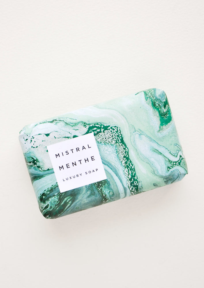 Swirling Waters Bar Soap in Mint - LEIF