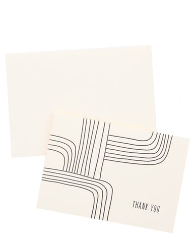 Modern Lines Thank You Card Set