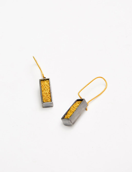 Modern Metal Drusy Earrings - LEIF