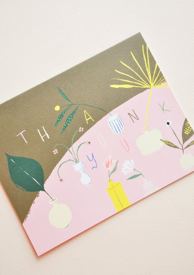 Modern Vases Thank You Card hover