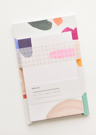 Art for Your Desk Notepad Set in Brights Multi - LEIF