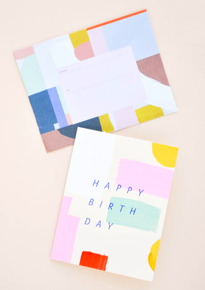 Colorstroke Happy Birthday Card hover