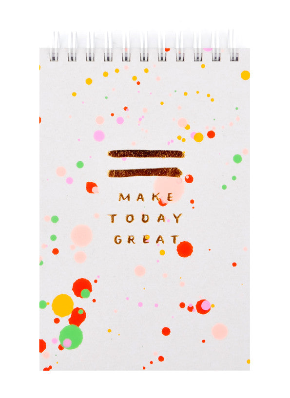 Splattered Jotter Spiral Notepad - LEIF