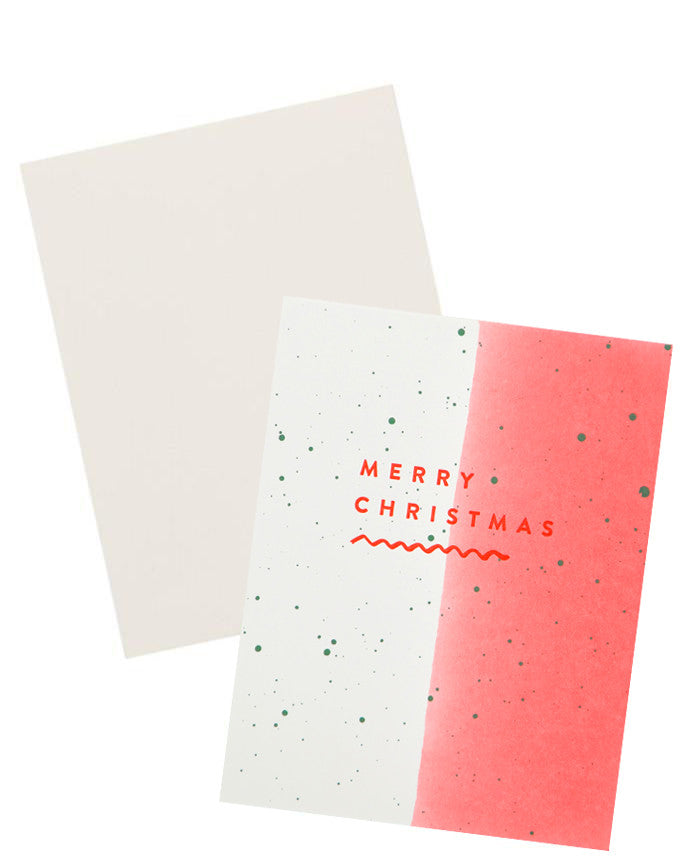 Merry Christmas Dipped Card - LEIF