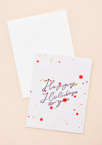 Happy Holidays Splatter Card