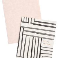 Mazed Lines Wedding Card - LEIF