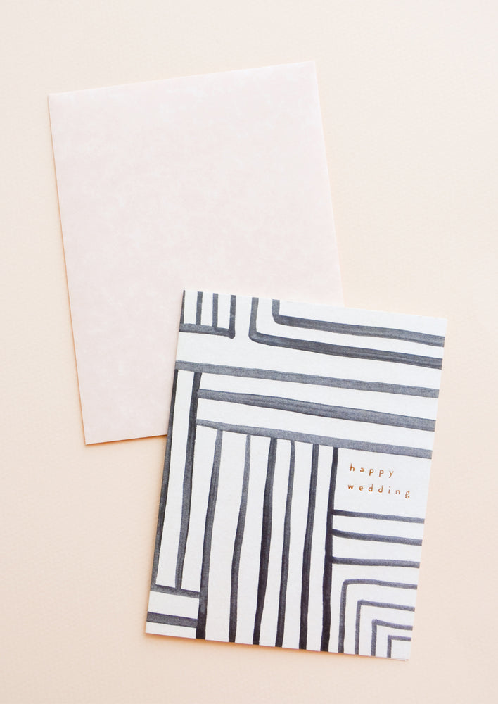 Mazed Lines Wedding Card