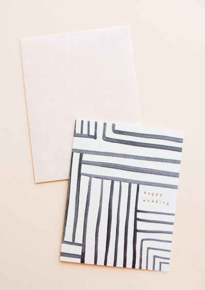 Mazed Lines Wedding Card in  - LEIF