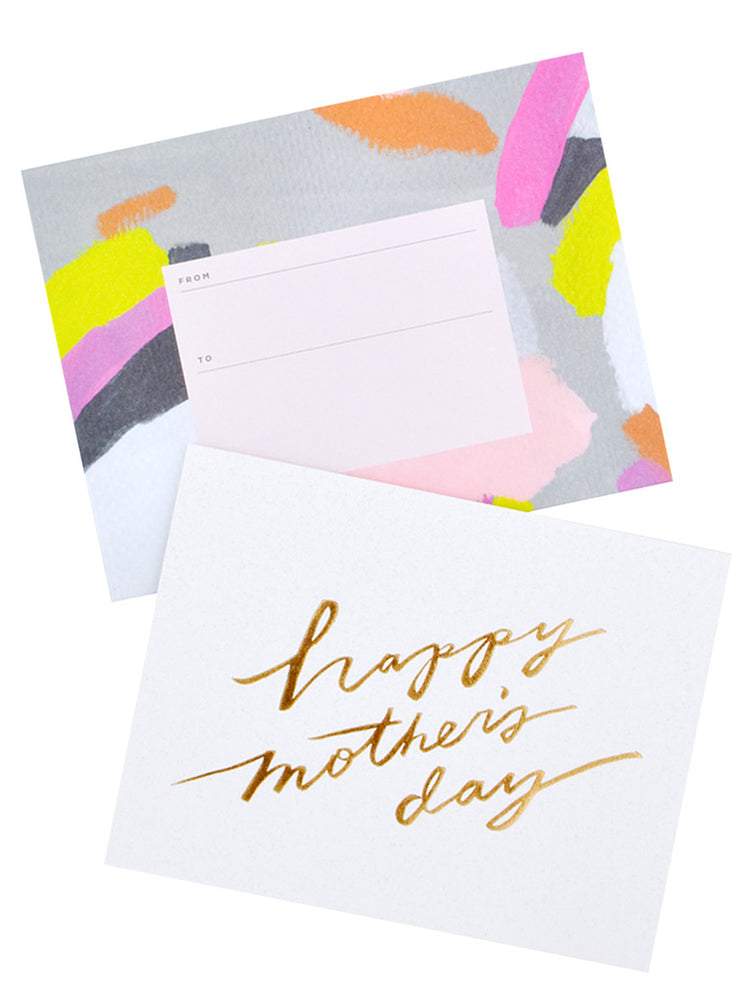 1: Happy Mother's Day Script Card in  - LEIF