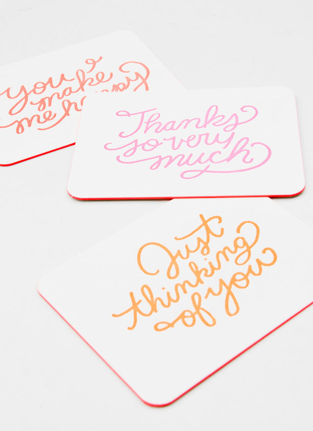 Everyday Neon Greetings Boxed Card Set - LEIF