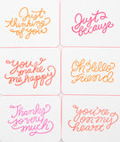 Everyday Neon Greetings Boxed Card Set