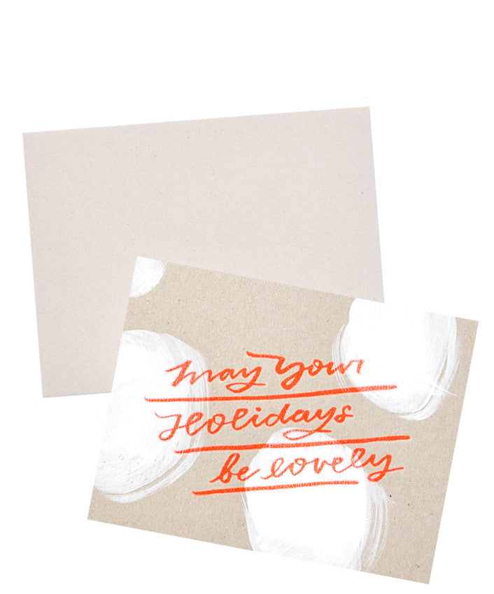 Lovely Holiday Chipboard Card - LEIF