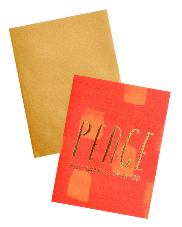 Peace, Pie & Coffee Card - LEIF